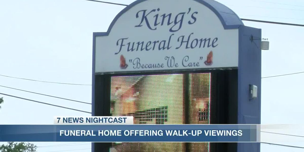 King's Funeral Home offers walk-up viewing services