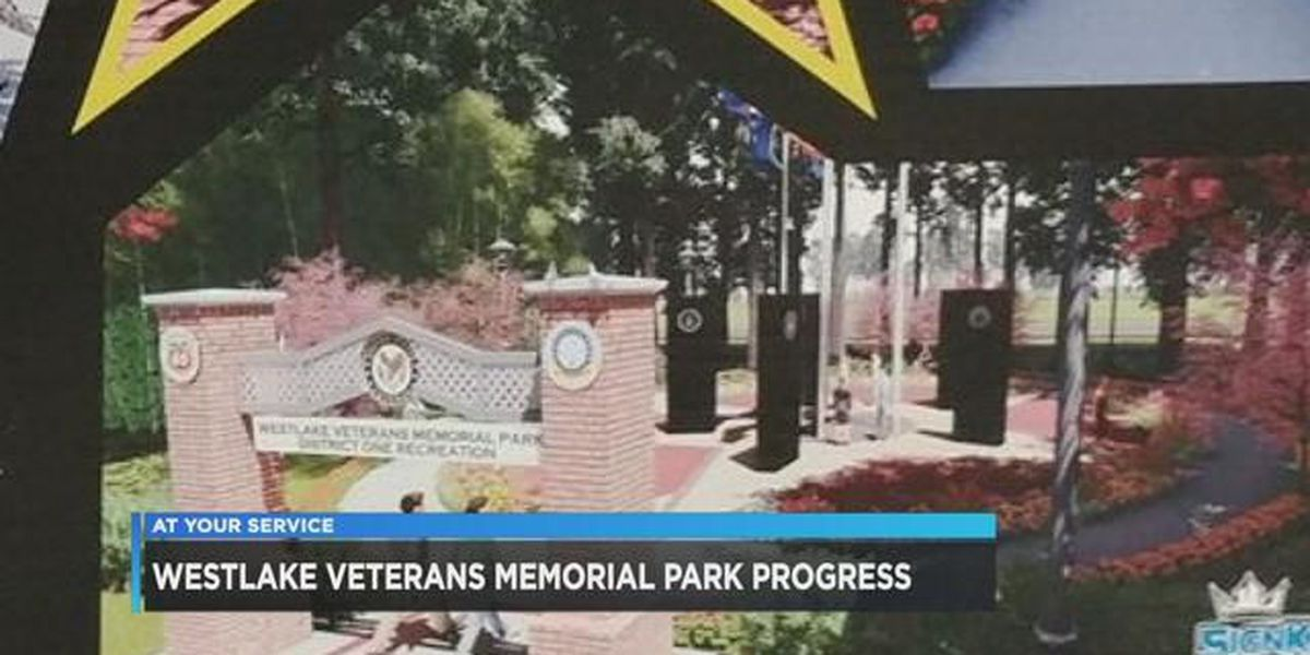 Westlake Veterans Memorial nearing completion