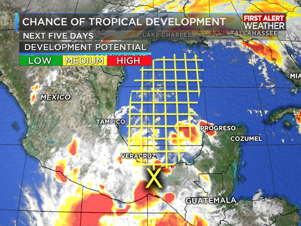TROPICAL UPDATE: Watching an area of possible development in the Gulf this week