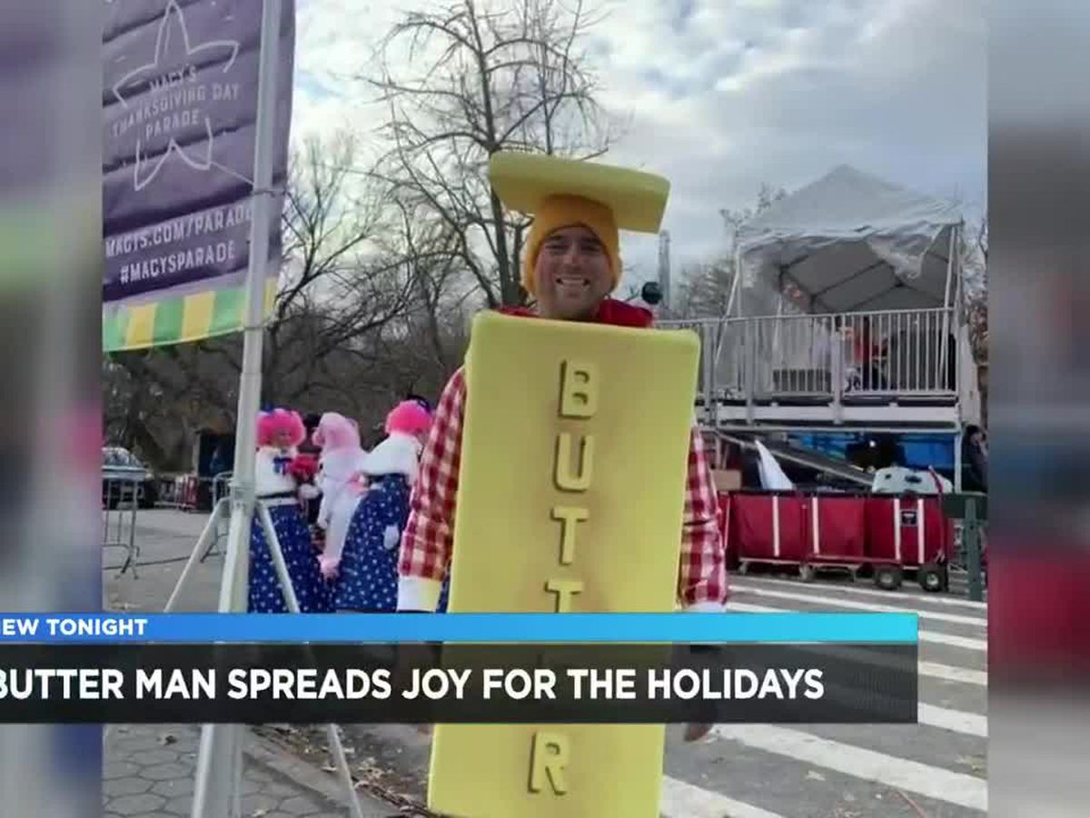 Macy's Parade's Butter Man spreads joy for the holidays