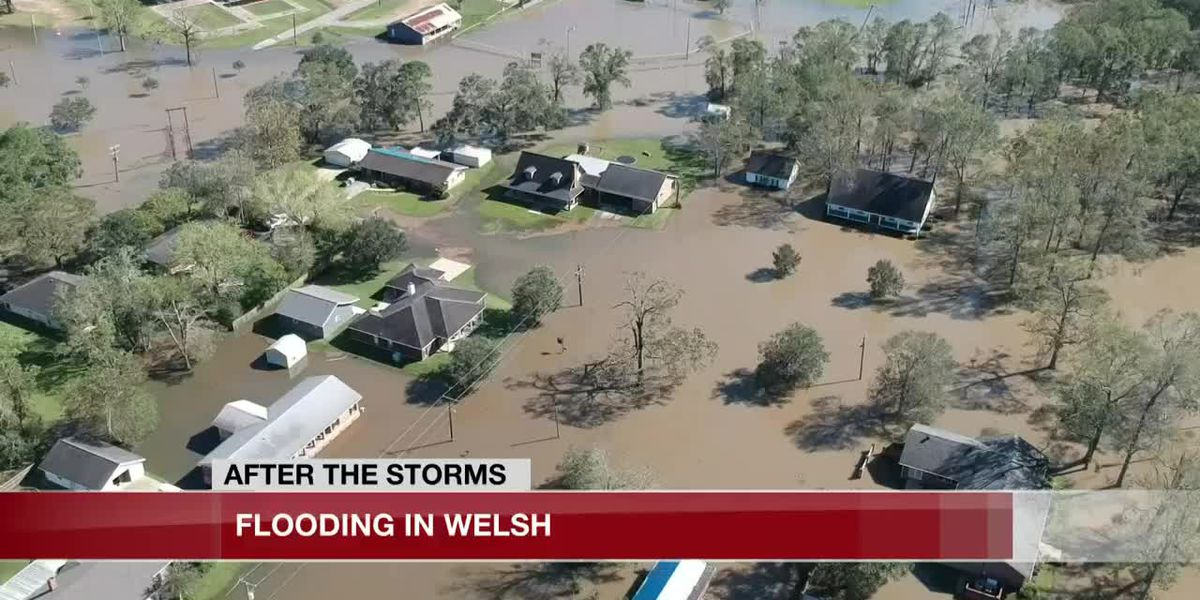 Neighborhoods in Welsh experience flooding after Hurricane Delta