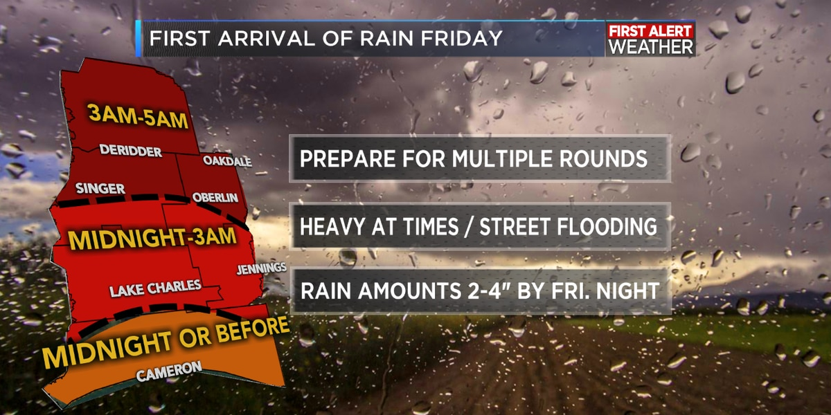 FIRST ALERT FORECAST: Sun to start; clouds return with rain moving in late tonight