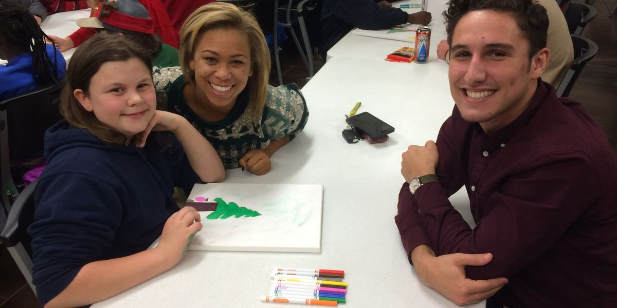 McNeese students make Christmas special for Big Brothers Big Sisters children