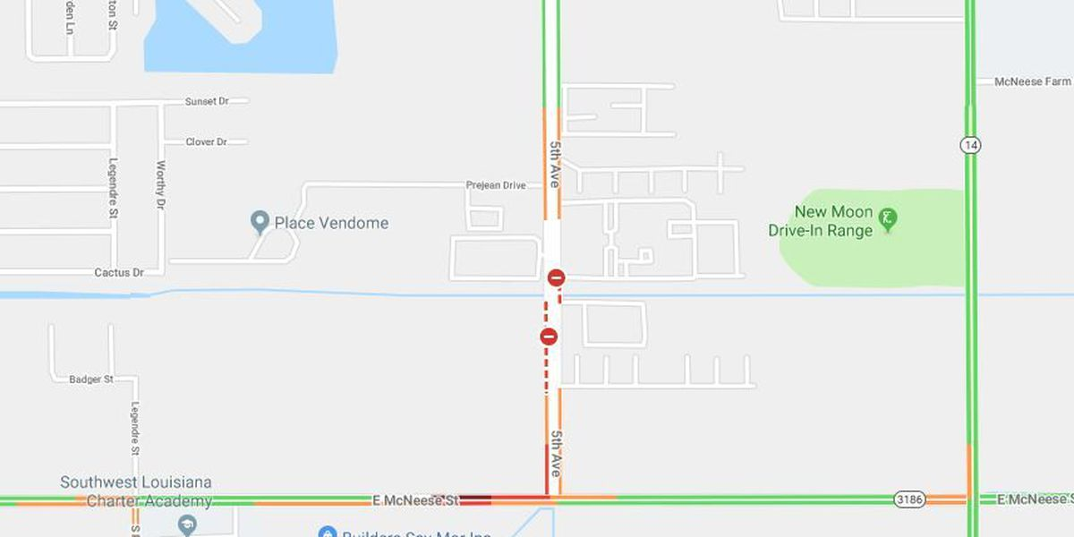 TRAFFIC: All lanes of E. McNeese near 5th Avenue now open