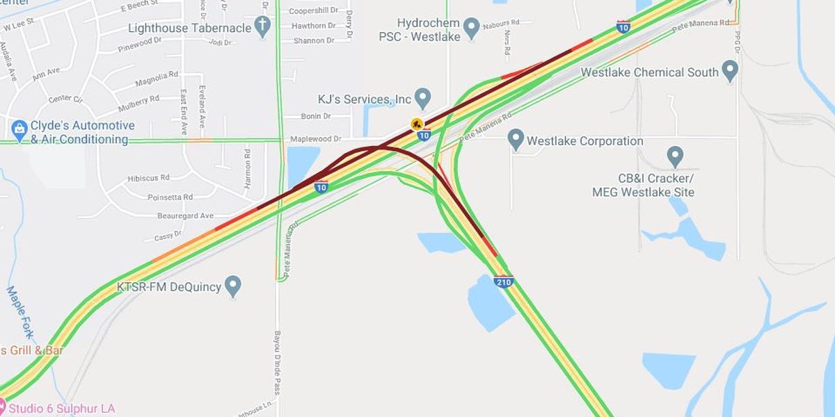TRAFFIC: I-10 westbound backing up heading into Sulphur after accident near 210 interchange