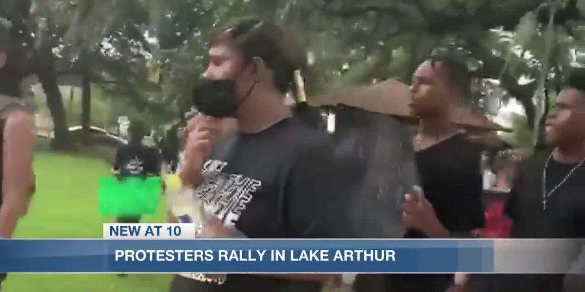 Lake Arthur and Oberlin host rallies in memory of George Floyd
