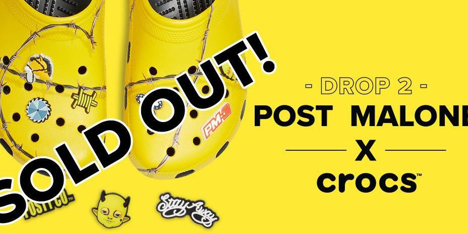Post Malone's second Crocs release sells out in minutes