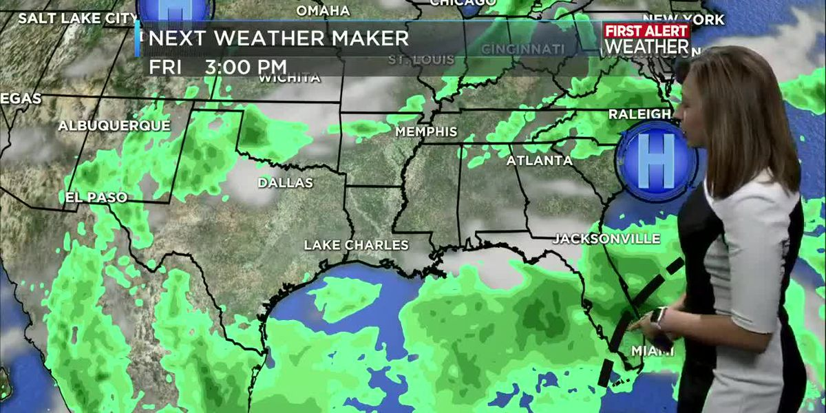 First Alert Forecast: Hot and humid with isolated afternoon showers and storms