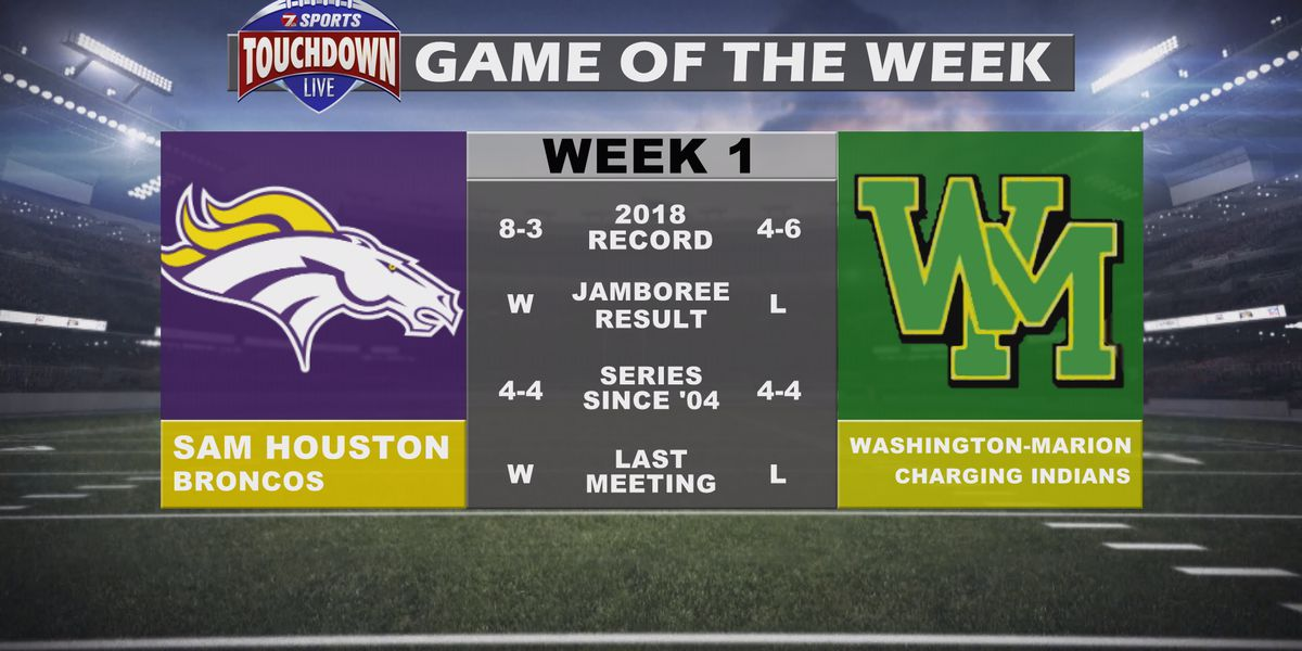 Sam Houston at Washington-Marion named week one TDL Game of the Week