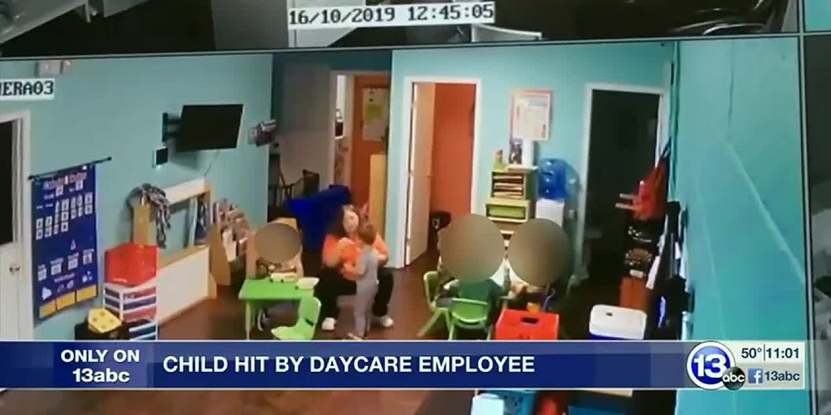 Child hit by day care worker, caught on camera