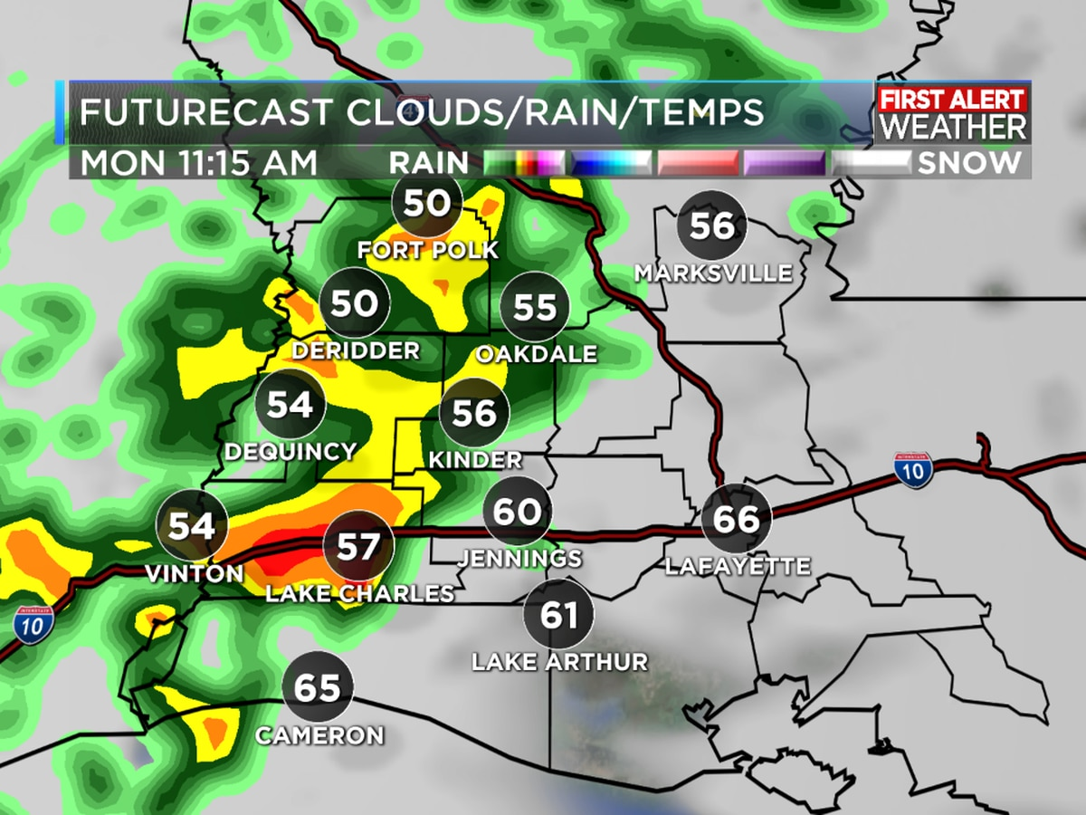 Active weather pattern brings rain and cool shots of air this week