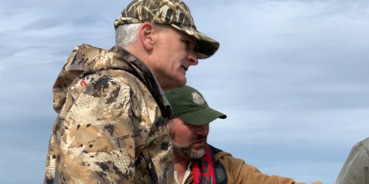 Senator Bill Cassidy visits Rockefeller Wildlife Refuge to discuss coastal erosion