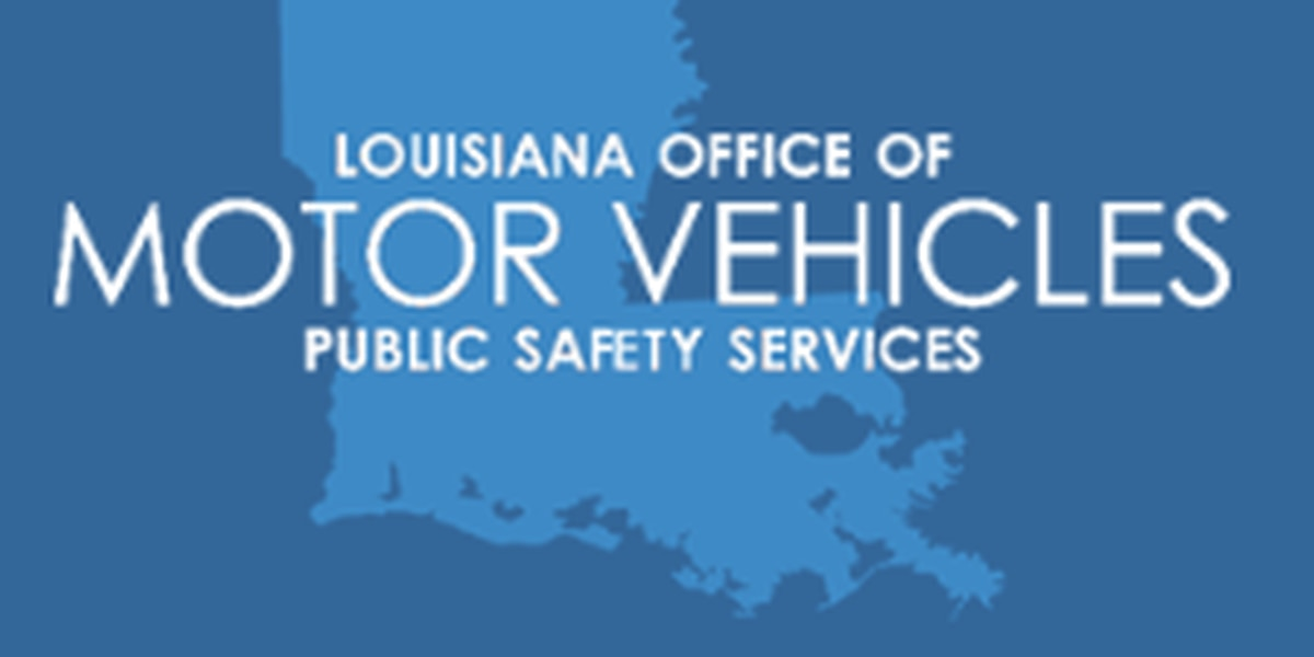 Louisiana OMV's EXPRESSLANE shows open OMV locations