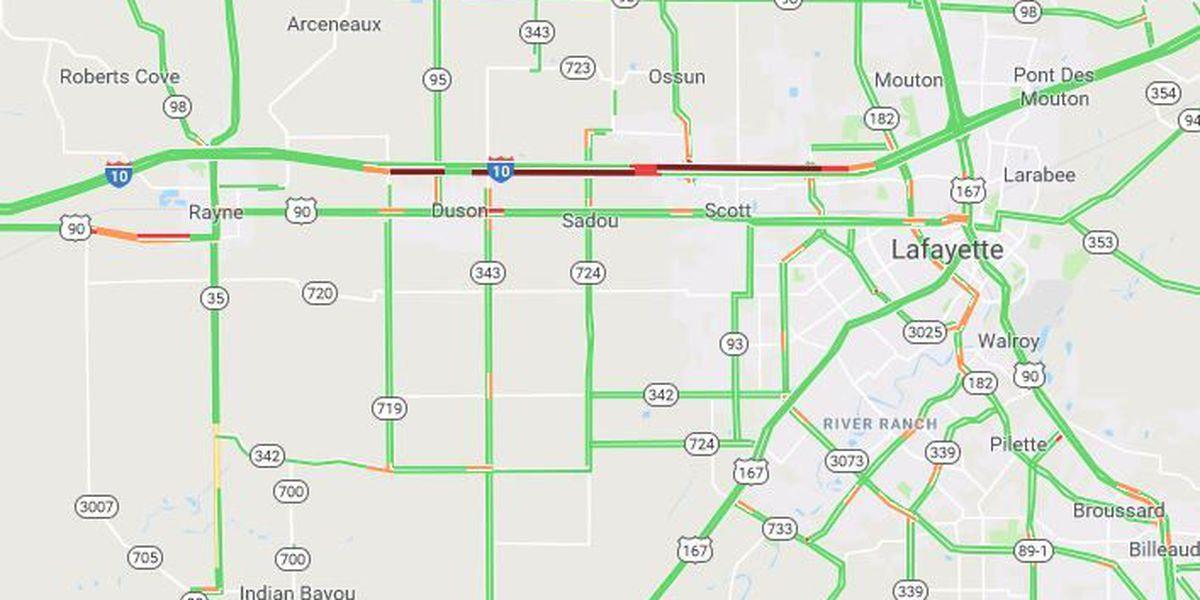 All lanes now open on I-10 near Scott
