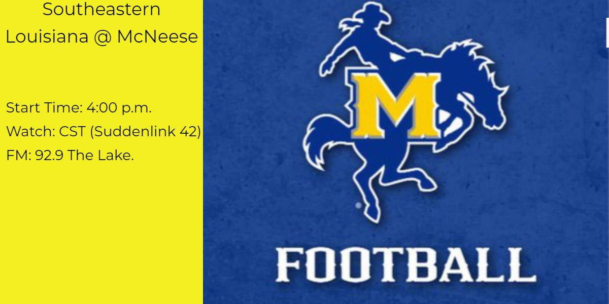 McNeese football has 4 p.m. start against Southeastern Louisiana
