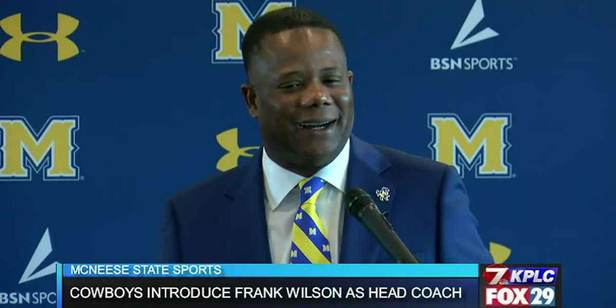 WATCH: McNeese introduces new head football coach Frank Wilson