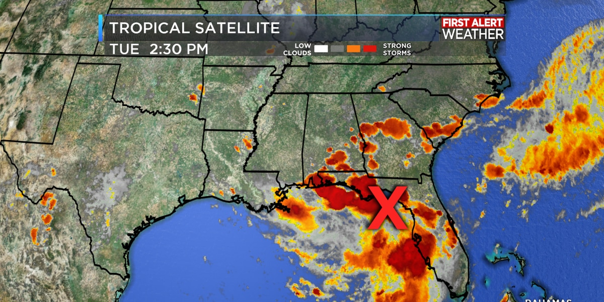 Tropical system may form in the Gulf Wednesday