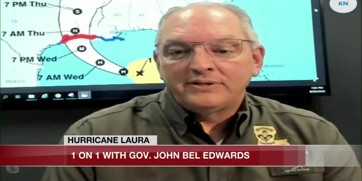 HURRICANE LAURA: One-on-one with Gov. Edwards