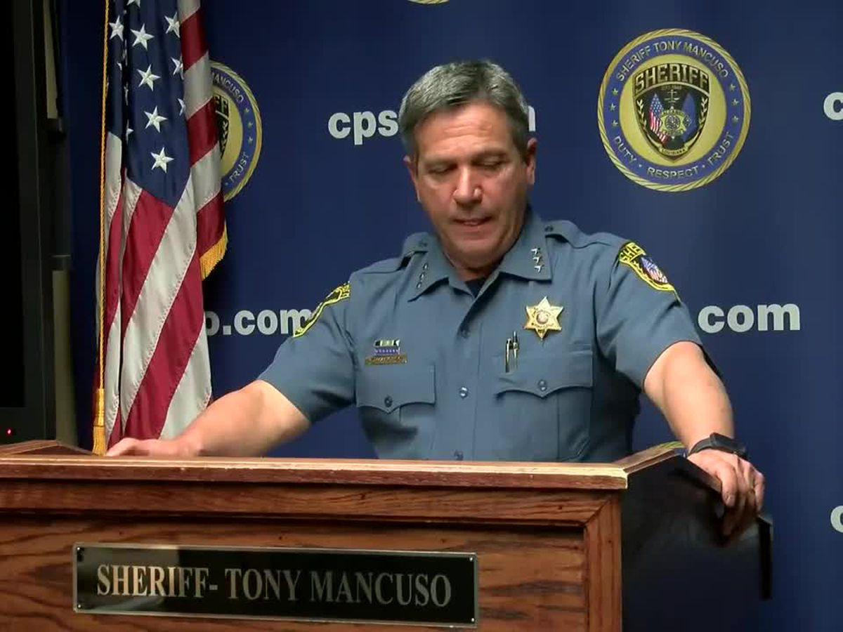 Sheriff Mancuso holds press briefing about Saturday night homicide