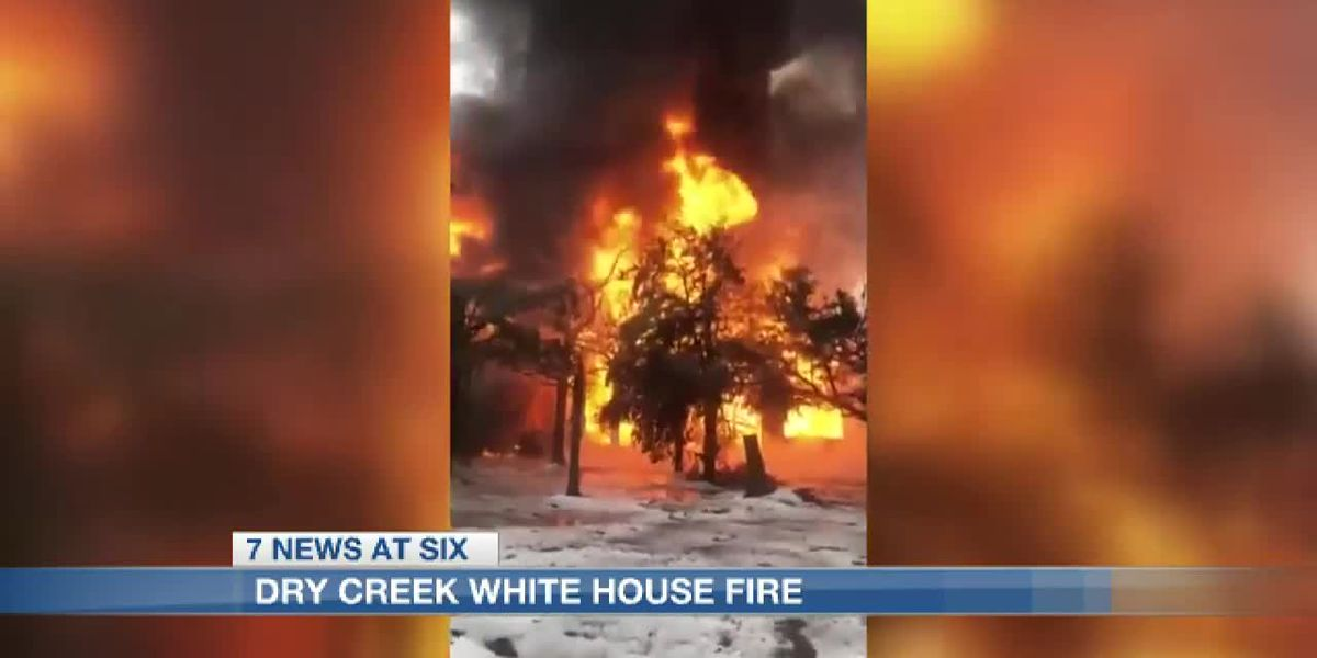 Historical building burns at Dry Creek Baptist Camp