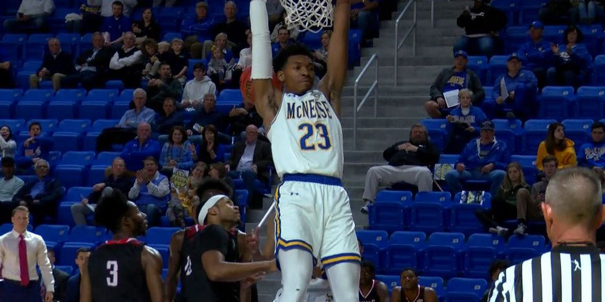 Cowboys shoot past Nicholls, 86-75 during grand opening of new arena