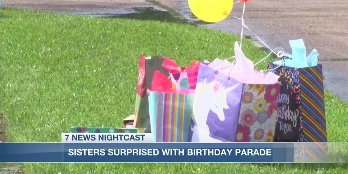 Local sisters surprised with birthday parade