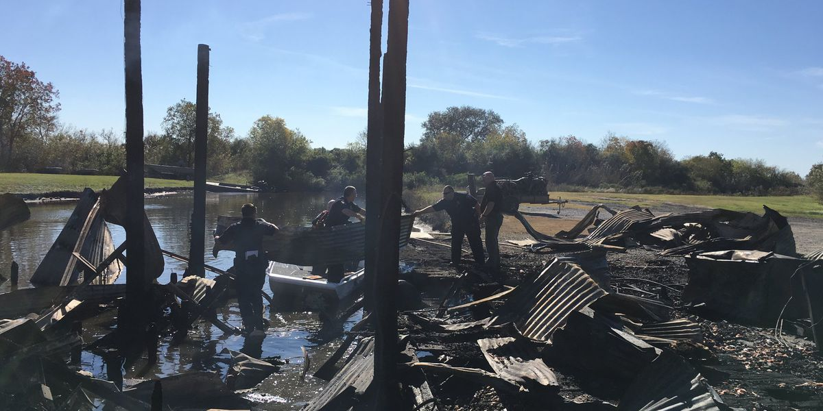 Fire damages boat house in Cameron Parish