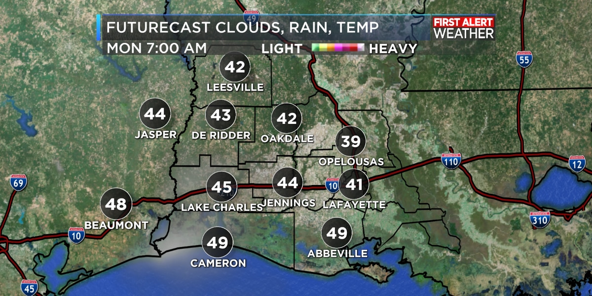 FIRST ALERT FORECAST: A beautiful ending to the weekend with more sunshine to start the week