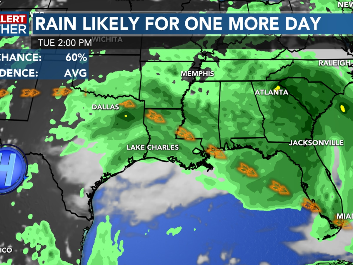 FIRST ALERT FORECAST: Higher than normal rain chances for now, but drier weather returns later this week…