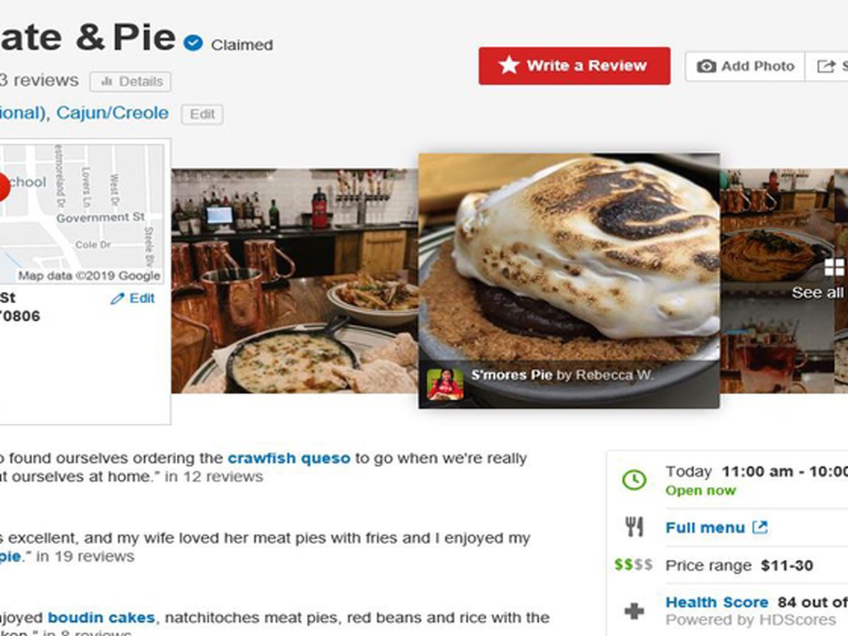 Yelp adds health scores for Louisiana restaurants