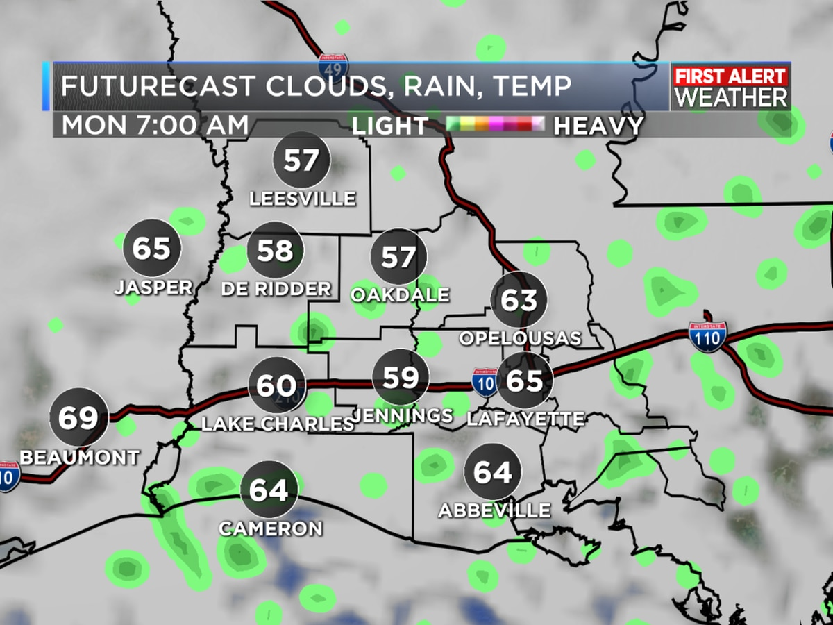 FIRST ALERT FORECAST: A nice way to end the weekend, but rain as a cold front moves in