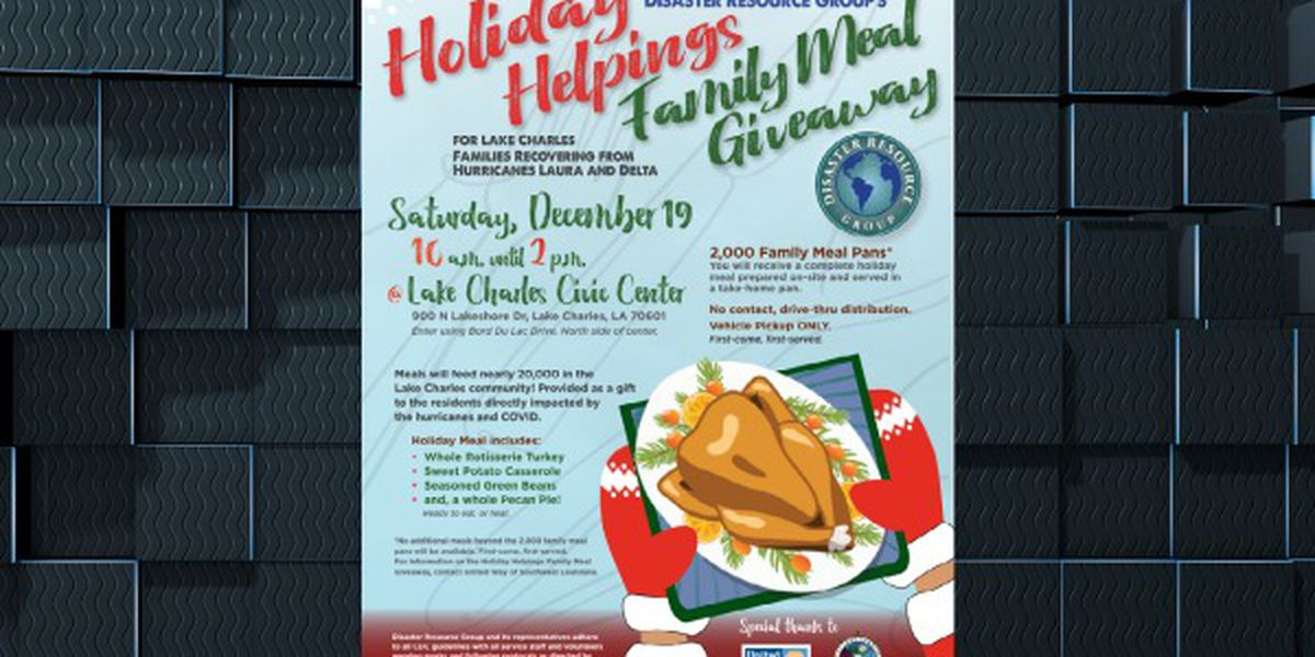 Holiday Helpings Family Meal Giveaway