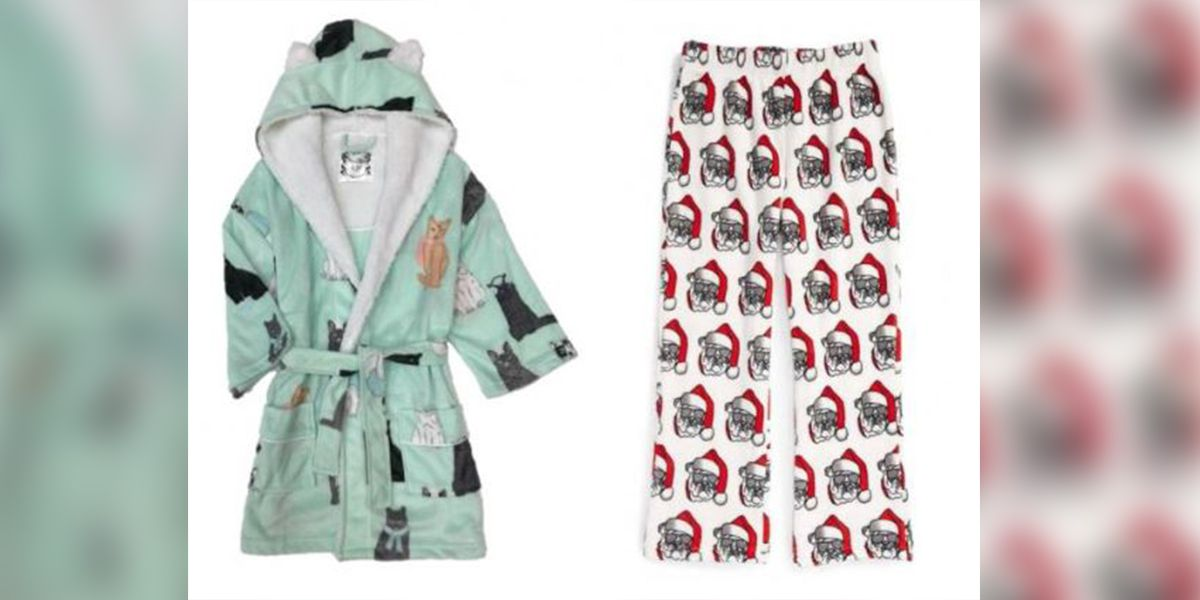 Pajamas, robes for kids recalled due to risk of burn injuries