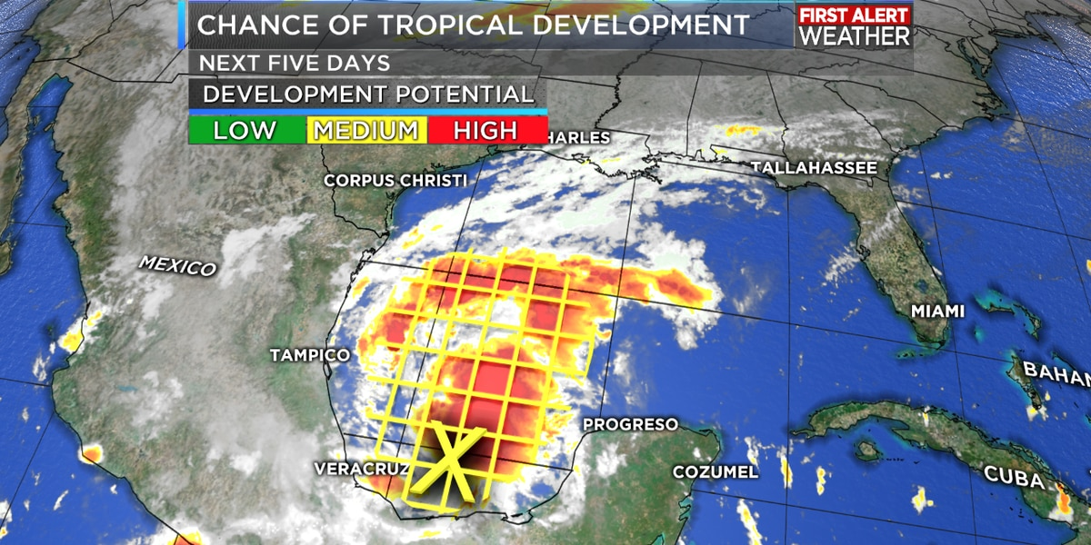 TROPICAL UPDATE: Disturbance in the Gulf could become a tropical depression later today