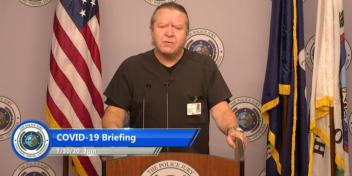 Calcasieu officials July 30 briefing on COVID-19 -Dr. Carlos Choucino