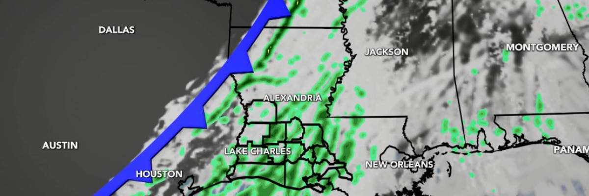 FIRST ALERT FORECAST: Showers return Monday ahead of a cold front