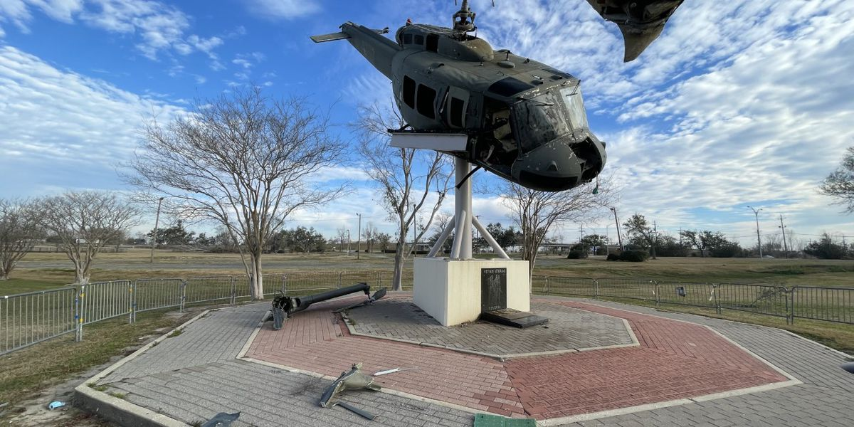 Veterans Park helicopter to be taken down and repaired