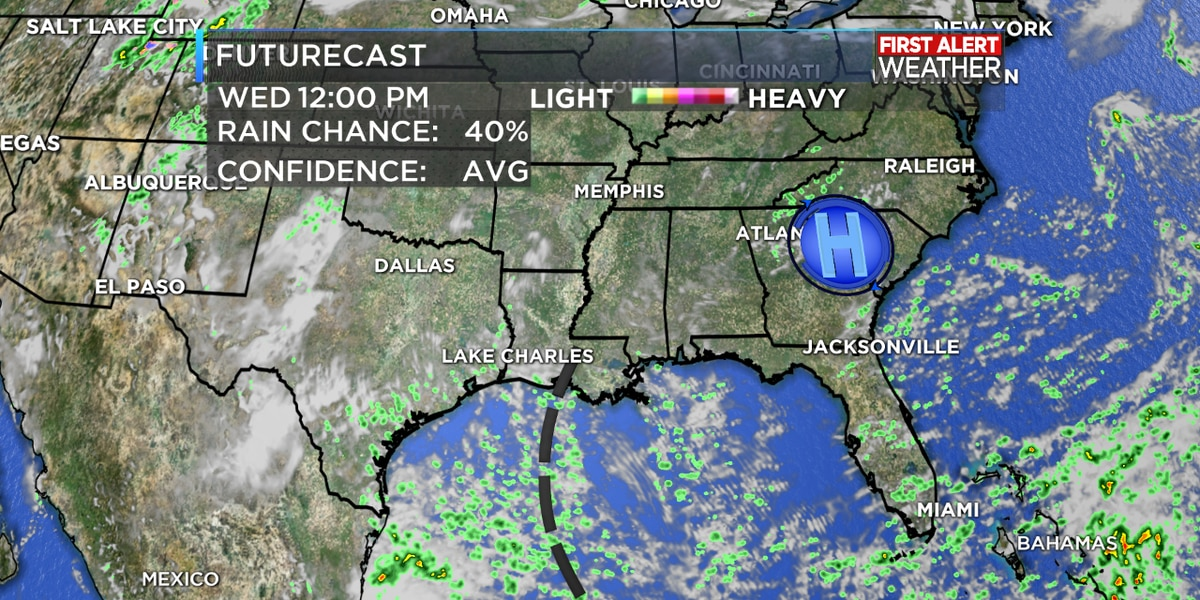 FIRST ALERT FORECAST: Scattered afternoon showers likely through the rest of the week