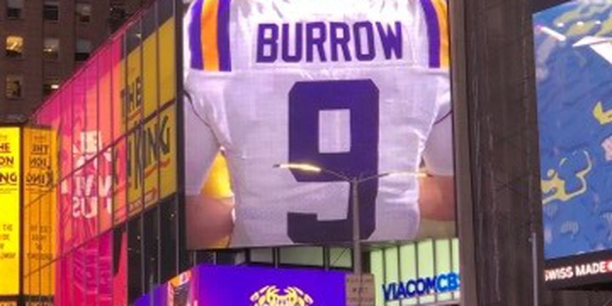 Photos, videos of Joe Burrow appear in Times Square