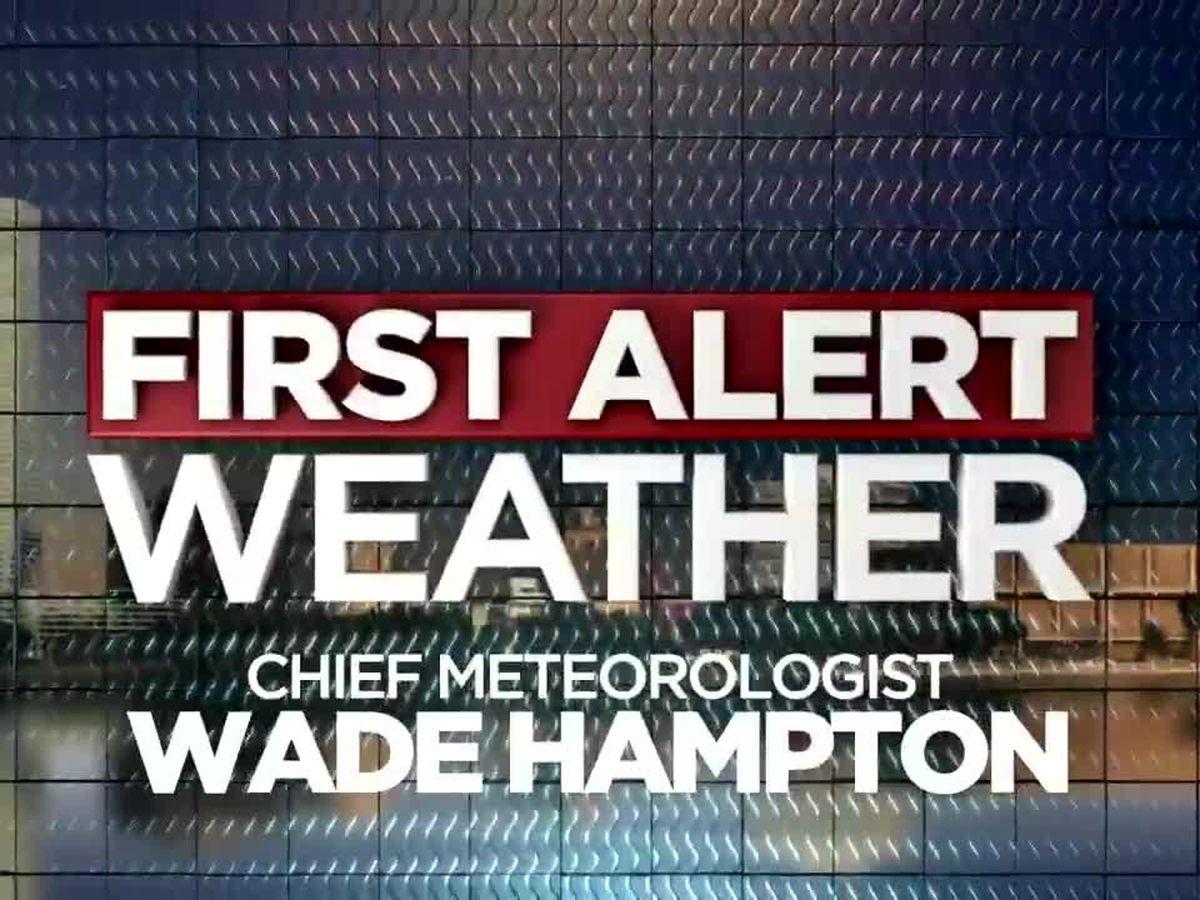 First Alert Forecast: Imelda slowly exiting SWLA