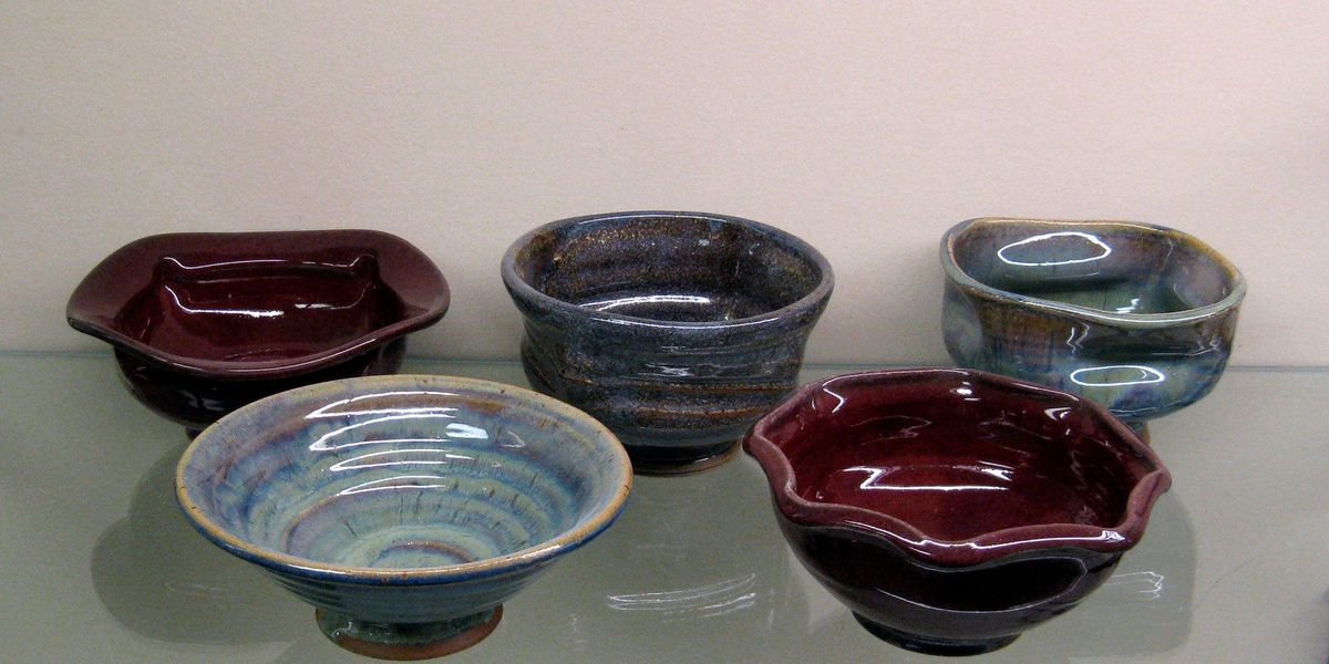 McNeese ceramics students selling handcrafted gumbo bowls