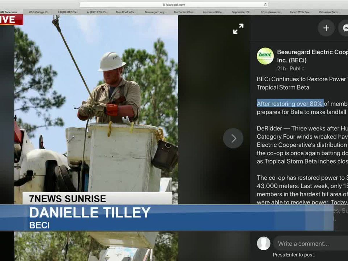Sunrise Interview: SWLA utility restoration update - Sept. 23, 2020