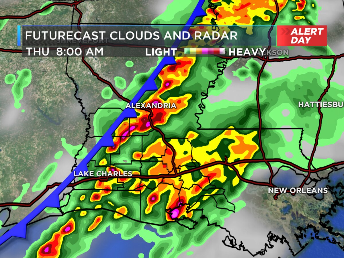 FIRST ALERT WEATHER DAY: Strong storms this morning, some sunshine by afternoon