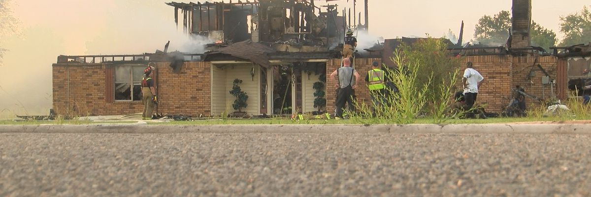 Lightning strike may have caused house fire near Gillis