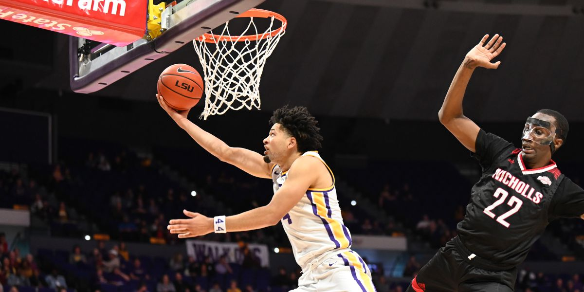No. 23 LSU outlasts Nicholls St. in tough-fought game