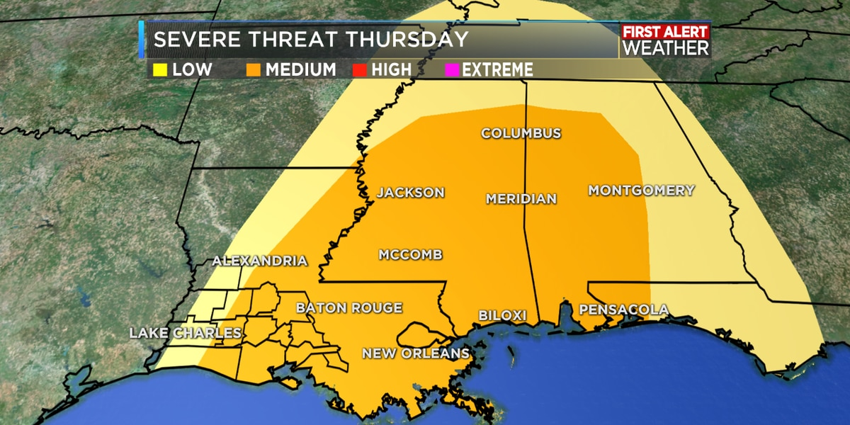 FIRST ALERT FORECAST: Warm and breezy today ahead of strong to severe storms Thursday