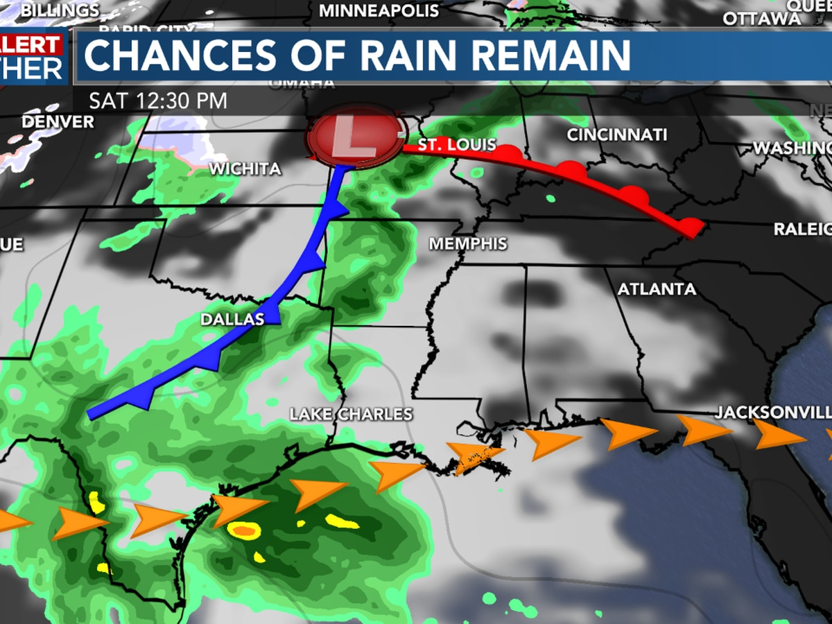 FIRST ALERT FORECAST: A beautiful afternoon ahead, rain chances are coming back into the weekend