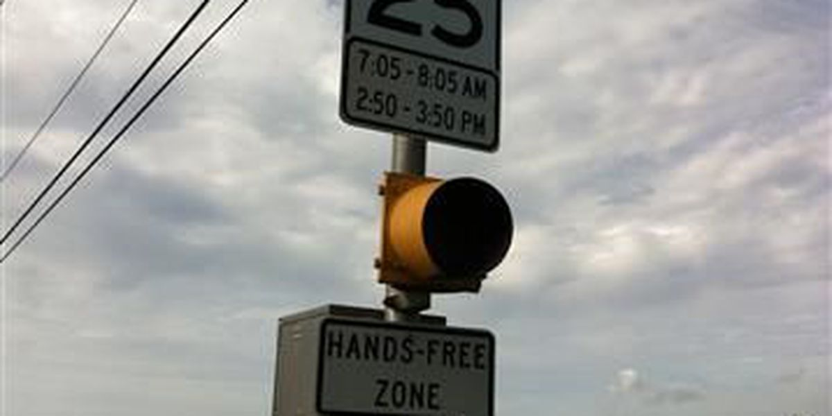 Hands-free cell phone signs go up at Calcasieu schools
