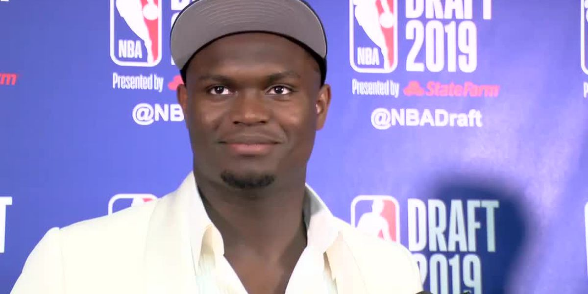 It's official! Pelicans draft Zion Williamson first overall