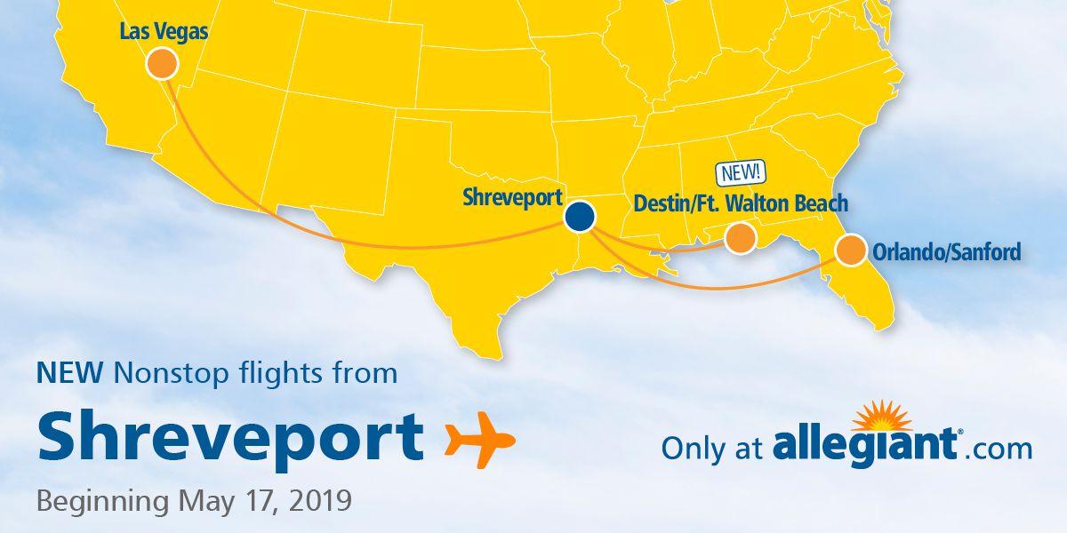 Shreveport Regional Airport to offer flights to Destin, Florida